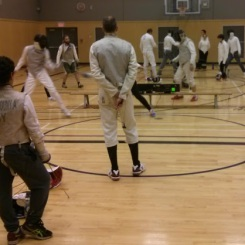 October 2016 fencing at the club