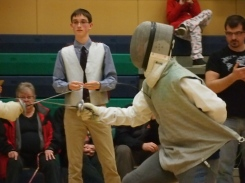 Beginners Invitational fencing bout
