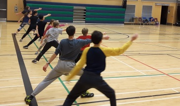 fencing lunge