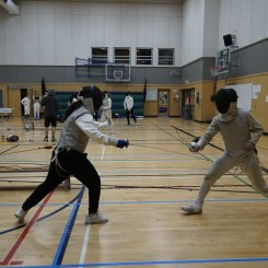Foil bout, Sanem Le Gresney vs Benson Hung